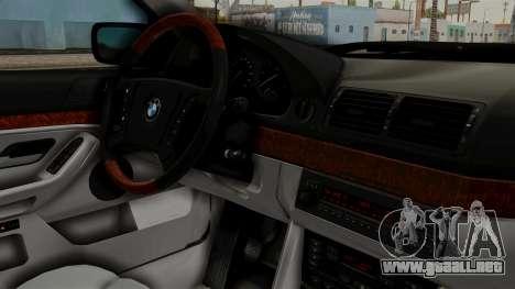 BMW 530D E39 1999 Stock para la visión correcta GTA San Andreas