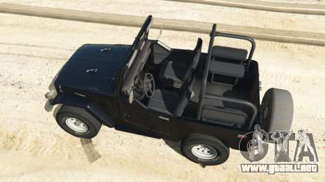 GTA 5 Toyota Land Cruiser (J40) 1978 [Beta 3b] vista trasera