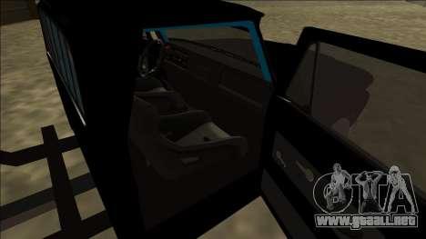Chevrolet C10 Drift Monster Energy para GTA San Andreas vista posterior izquierda