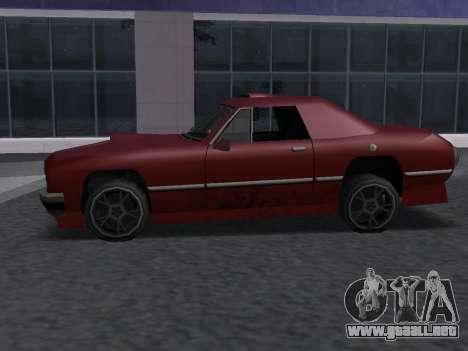 New Stallion para GTA San Andreas vista hacia atrás