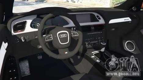 GTA 5 Audi S4 delantero derecho vista lateral