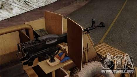MRAP Buffel from CoD Black Ops 2 para la visión correcta GTA San Andreas