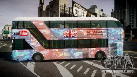 Wrightbus New Routemaster para GTA 4 left