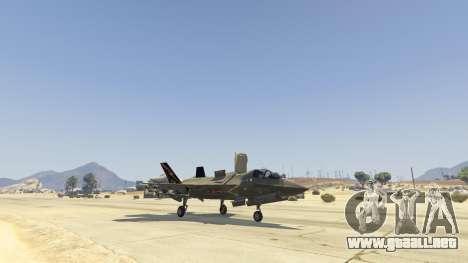 GTA 5 F-35B Lightning II (VTOL) cuarto captura de pantalla