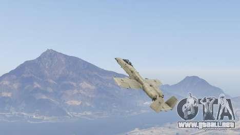 GTA 5 A-10A Thunderbolt II 1.1 noveno captura de pantalla