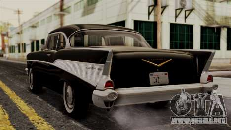 Chevrolet Bel Air Sport Coupe (2454) 1957 IVF para GTA San Andreas left