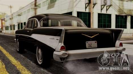 Chevrolet Bel Air Sport Coupe (2454) 1957 IVF para GTA San Andreas left