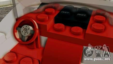 Lego Mach 5 para la visión correcta GTA San Andreas