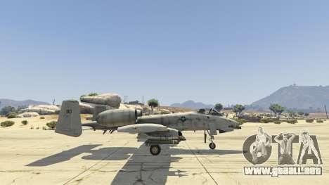 GTA 5 A-10A Thunderbolt II 1.1 quinta captura de pantalla