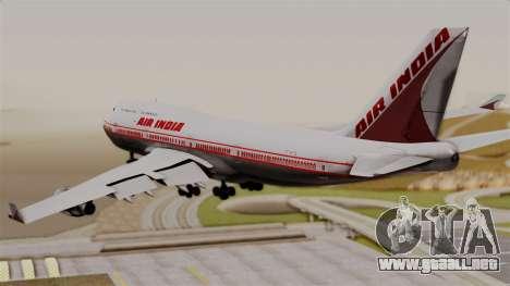 Boeing 747-400 Air India Old para GTA San Andreas left