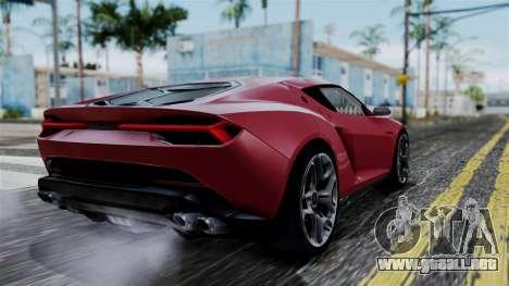 Lamborghini Asterion 2015 Concept para GTA San Andreas left