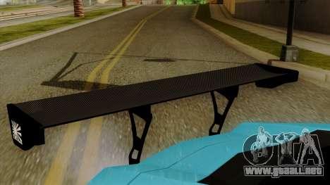 Lamborghini Aventador LB Performance para GTA San Andreas vista hacia atrás
