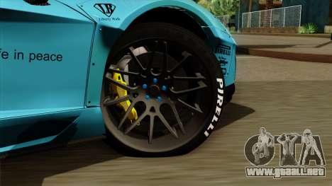 Lamborghini Aventador LB Performance para GTA San Andreas vista posterior izquierda