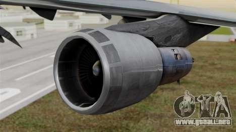 Boeing 747 Singapore Cargo para la visión correcta GTA San Andreas
