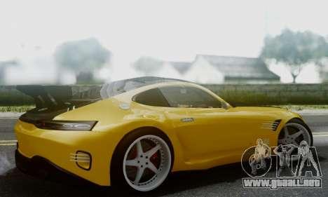 Mercedes-Benz AMG GT para GTA San Andreas vista posterior izquierda