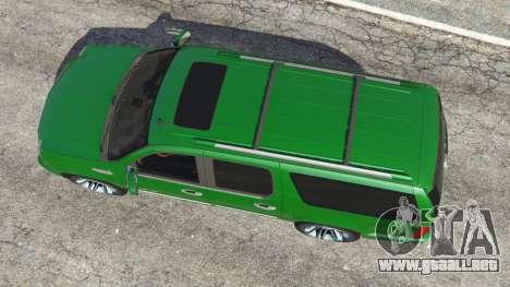 GTA 5 Cadillac Escalade ESV 2012 vista trasera