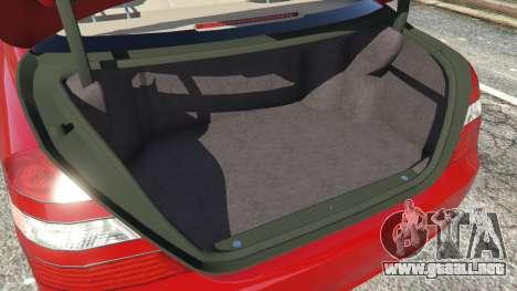 GTA 5 Mercedes-Benz S550 W221 v0.4.1 [Alpha] delantero derecho vista lateral