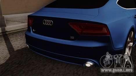 Audi A7 Sportback 2009 para GTA San Andreas vista hacia atrás