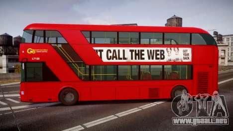 Wrightbus New Routemaster Go Ahead London para GTA 4 left