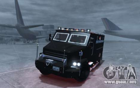 International 4000-Series SWAT Van para GTA 4 vista hacia atrás