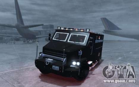 International 4000-Series SWAT Van para GTA 4 vista hacia atrás