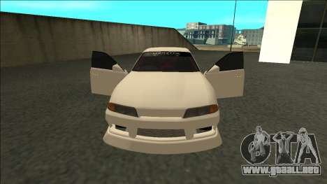 Nissan Skyline R32 Sedan Monster Energy Drift para la visión correcta GTA San Andreas