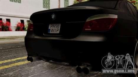 BMW M5 E60 Vossen v1 para visión interna GTA San Andreas