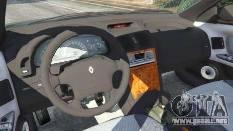 GTA 5 Renault Laguna I Phase II vista lateral trasera derecha