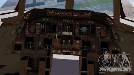 Boeing 747 British Airlines (Landor) para visión interna GTA San Andreas