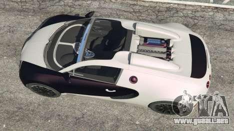 GTA 5 Bugatti Veyron Grand Sport v4.0 vista trasera