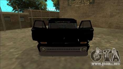 Chevrolet C10 Drift Monster Energy para visión interna GTA San Andreas