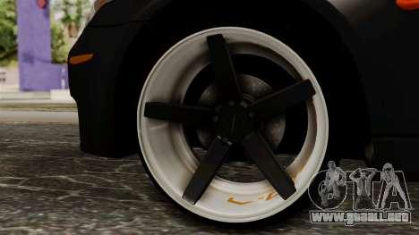 BMW M5 E60 Vossen v1 para GTA San Andreas vista posterior izquierda