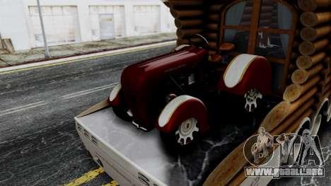 Scania Showtrailer Cabaña para GTA San Andreas vista posterior izquierda