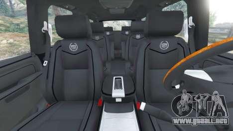 GTA 5 Cadillac Escalade ESV 2012 delantero derecho vista lateral