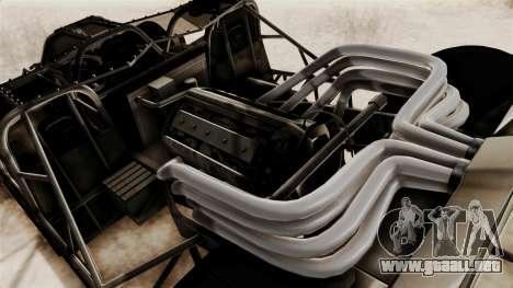 Camo Flip Car para GTA San Andreas vista hacia atrás