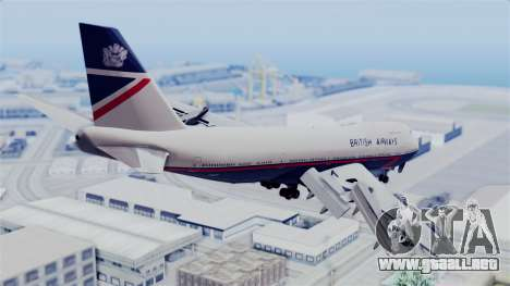Boeing 747 British Airlines (Landor) para GTA San Andreas left