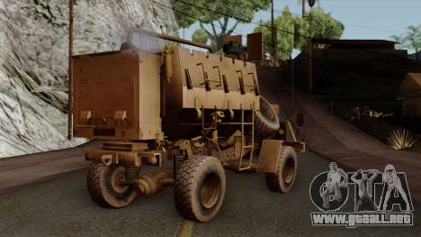 MRAP Buffel from CoD Black Ops 2 para GTA San Andreas left