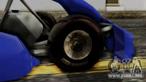 Crash Team Racing Kart para GTA San Andreas vista posterior izquierda
