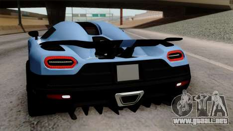 Koenigsegg Agera R 2014 Carbon Wheels para el motor de GTA San Andreas