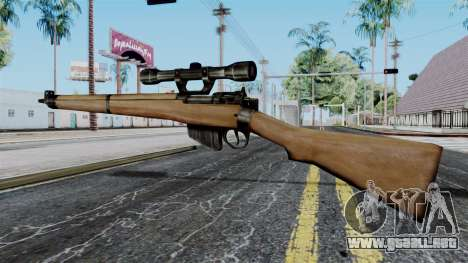 Lee-Enfield No.4 Scope from Battlefield 1942 para GTA San Andreas segunda pantalla