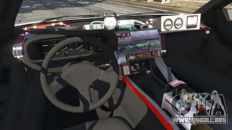 GTA 5 DeLorean DMC-12 Back To The Future v0.3 vista lateral trasera derecha