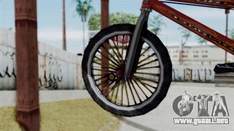 Bike from Bully para GTA San Andreas vista posterior izquierda