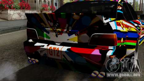 BMW M3 E36 79 para GTA San Andreas vista hacia atrás
