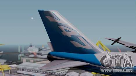 Boeing 747-400 Dreamliner Livery para GTA San Andreas vista posterior izquierda