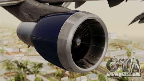 Boeing 747 United Airlines para la visión correcta GTA San Andreas