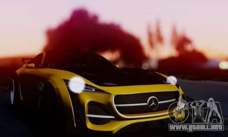 Mercedes-Benz AMG GT para GTA San Andreas vista hacia atrás