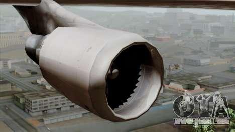 Boeing 747-400 Friendship Tag para la visión correcta GTA San Andreas