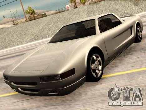 Infernus PFR v1.0 final para GTA San Andreas vista hacia atrás