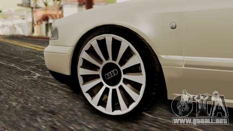 Audi A8 D2 para GTA San Andreas vista posterior izquierda