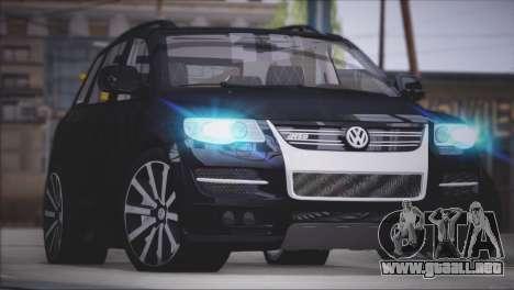 Volkswagen Touareg R50 2008 para GTA San Andreas vista hacia atrás